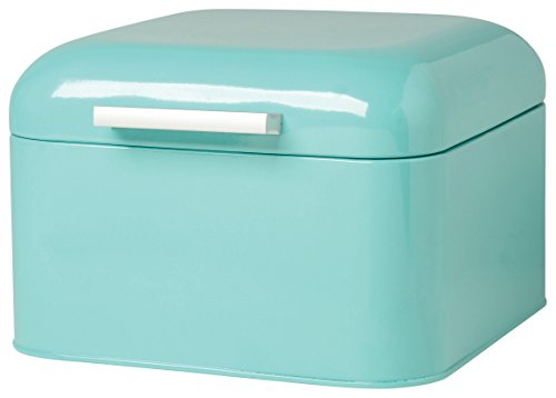 Turquoise Bread Box Best Teal Metal Bread Box With Roll Top Lid For Kitchen 60 X 6060 X 6060