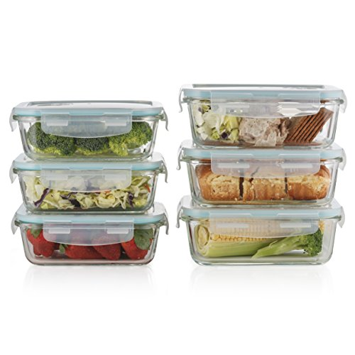 Flip Locks Simply Click Into Place And Are Easy To Open Even For Seniors Or  Children. Durable U0026 Stackable 8 Piece Multi Use Set: 8 Piece Food Container  Set ...
