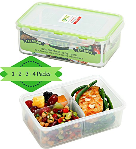 PREMIUM Divided Food Storage Containers Portion Control