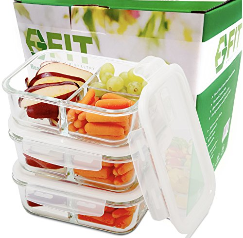 Food Storage Containers with Lids Glass Tupperware Set Food Prep