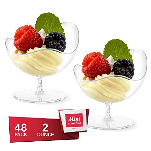 Mini Wonders Heavy Duty Plastic Clear Single Serve Scallop