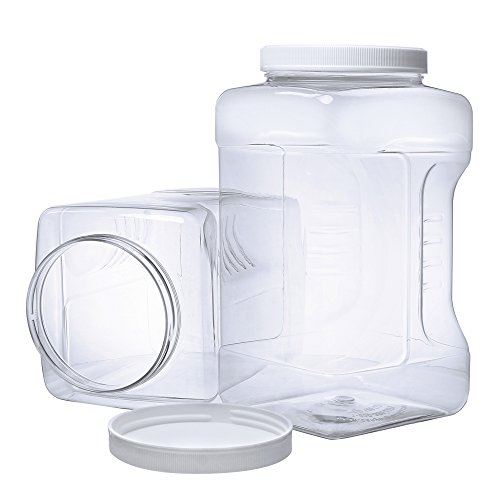 8 Pack of 64oz PETE Containers Clear Plastic Kitchen Food Storage