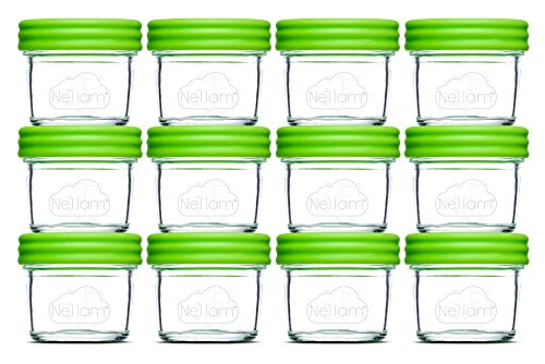 Nellam Baby Food Storage Containers Leakproof Airtight Glass