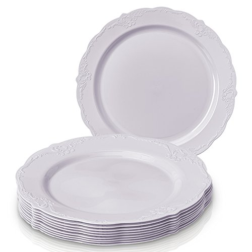 The wide rims and the elegant classic finish make this a perfect product to complement any color scheme or party motif. Classy u0026 elegant yet affordable.  sc 1 st  TakenCity & Silver Spoons Vintage Collection Party Disposable Dinnerware Set 30 ...