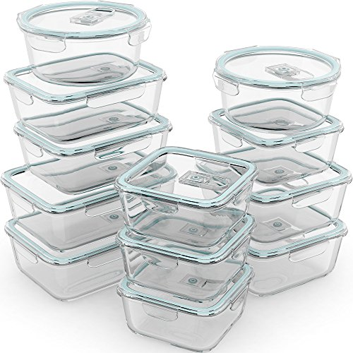Extra Large Glass Food Storage Containers with Airtight Lid 6 Pc 3