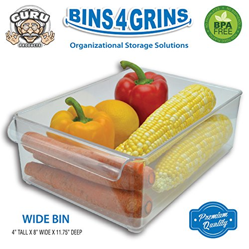 Stackable Bins Kitchen Storage Containers Refrigerator Organizer