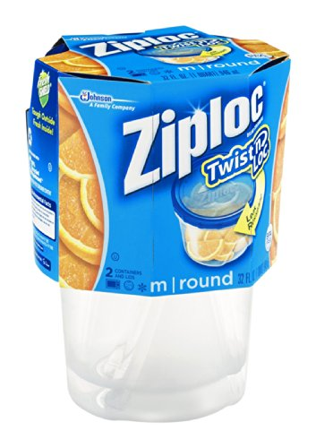 Ziploc Twist N Loc Small Container 16 Oz 3 Count Pack Of