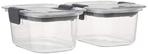 Rubbermaid Brilliance Food Storage Container, Medium Deep, 4.7 Cup, Clear, 2-Pack - TakenCity