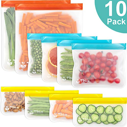 bags storage ziplock reusable freezer bag travel gallon refrigerator extra lunch sandwich leakproof snack thick bpa pack organize organizer takencity